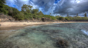 Praia norte Kaneohe Marine Corps Base Hawaii Fotografia de Stock Royalty Free