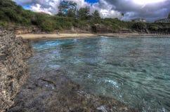 Praia norte Kaneohe Marine Corps Base Hawaii Imagens de Stock