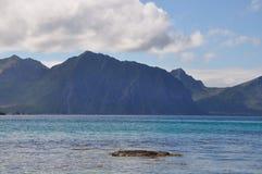 Praia Noruega de Haukland Imagens de Stock Royalty Free