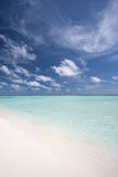 Praia nos maldives 2 Imagens de Stock Royalty Free