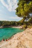 Praia nos Pula, Croácia Imagem de Stock