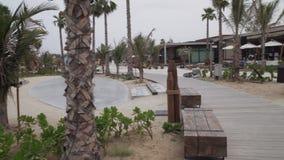 A praia nova e o entretenimento espaçam o vídeo da metragem do estoque de Mer do La vídeos de arquivo