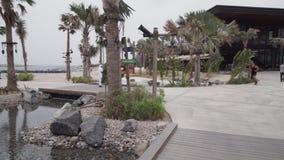 A praia nova e o entretenimento espaçam o vídeo da metragem do estoque de Mer do La video estoque