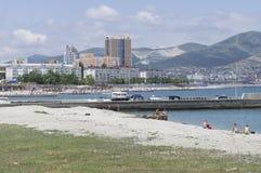 Praia Novorossiysk Foto de Stock