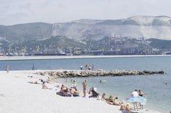Praia Novorossiysk Imagem de Stock