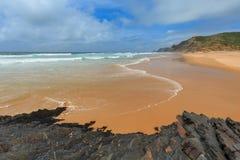 Praia o Algarve de Castelejo, Portugal Fotografia de Stock