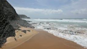 Praia o Algarve de Cordoama, Portugal vídeos de arquivo