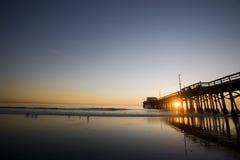 Praia Ocea andPacific de Newport Fotos de Stock