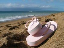 Praia, oceano, céu Imagens de Stock
