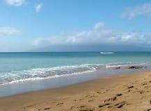 Praia, oceano, céu Foto de Stock