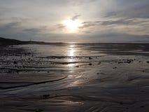 Praia ocidental de Lossiemouth fotografia de stock royalty free