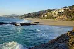 Praia ocidental no Laguna Beach sul, Califórnia Foto de Stock