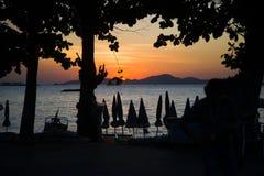 13 11 2014 - Praia pública e a estância turística de Pattaya, Thaila Imagem de Stock Royalty Free