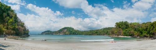 Praia panorâmico Fotos de Stock Royalty Free