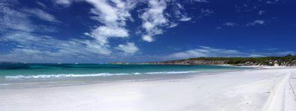 Praia panorâmico Imagens de Stock Royalty Free