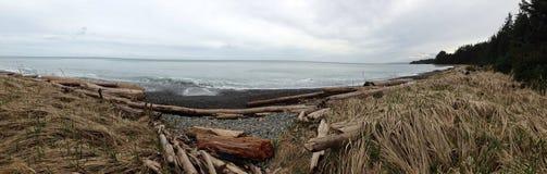 Praia panorâmico Fotografia de Stock Royalty Free