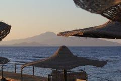 Praia para encantar o xeique do EL, Egipt Imagem de Stock