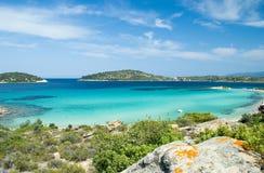 Praia paradisíaca Imagens de Stock
