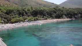 Praia paradisíaca de Maratea, Basilicata, Itália video estoque
