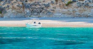 Praia Paradise de Wid em Corfu fotografia de stock