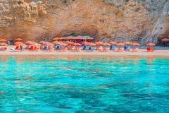 Praia Paradise de Wid em Corfu foto de stock royalty free