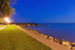 Praia pelo lago Balaton fotos de stock
