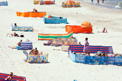 Praia pelo tycim do 'de BaÅ do mar Fotografia de Stock