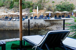 Praia pequena em Ulcinj, Montenegro Imagens de Stock Royalty Free