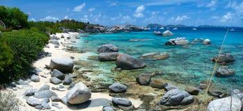 Praia perfeita da imagem nas Caraíbas Foto de Stock