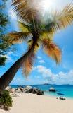 Praia perfeita da imagem nas Caraíbas Imagem de Stock Royalty Free