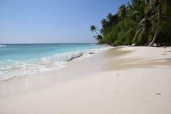 Praia perfeita Maldivas Imagens de Stock Royalty Free