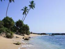 Praia perto de Mirissa, Sri Lanka Fotos de Stock Royalty Free