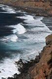 Praia perto de Playa Bollulo Fotografia de Stock