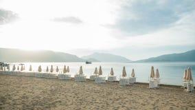 Praia perto do hotel Foto de Stock
