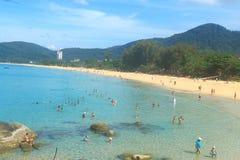 Praia phuket Tailândia de Karon Imagem de Stock Royalty Free