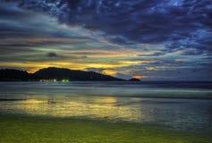 Praia phuket Tailândia de Patong imagens de stock