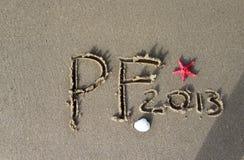 Praia picofarad 2013 Fotos de Stock