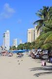 PRAIA POPULAR DE SAN JUAN PORTO RICO imagens de stock