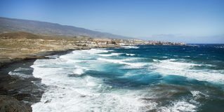 Praia Poris de Abona foto de stock royalty free