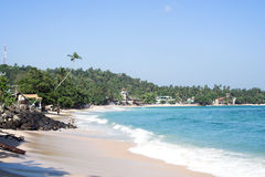 Praia povoada Foto de Stock