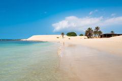 Praia Praia de Chaves de Chaves em Boavista Cabo Verde - Cabo Verd Imagem de Stock Royalty Free
