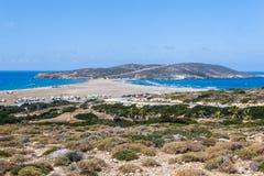 Praia Prasonisi Ilha do Rodes Greece Foto de Stock Royalty Free