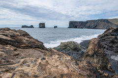 A praia preta Fotografia de Stock