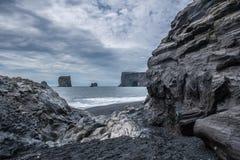 A praia preta Imagens de Stock