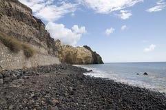 Praia preta do vulcão Imagens de Stock Royalty Free