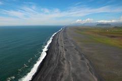 Praia preta, Islândia Fotografia de Stock