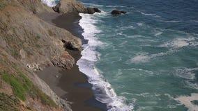 Praia preta no Pacífico video estoque