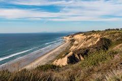 Praia preta opcional do ` s da roupa isolado em San Diego fotografia de stock royalty free
