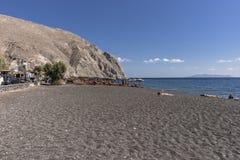 Praia preta, Santorini Fotografia de Stock Royalty Free