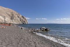 Praia preta, Santorini Fotos de Stock